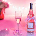 Cócteles de champán rosado