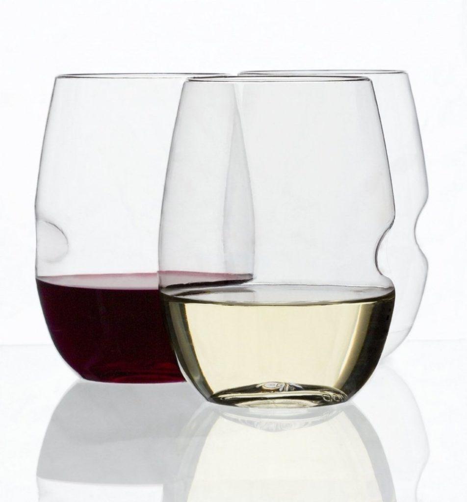 Copas de vino dise/ño retro Country 6 unidades, 31 cl color verde